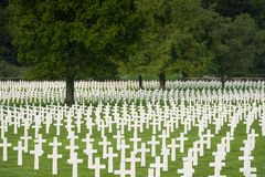 American military cemetery Stock Photography