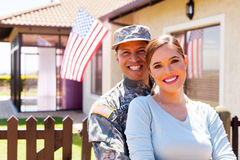American military couple royalty free stock image