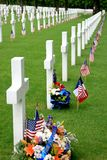 American Military Graveyard Royalty Free Stock Photo