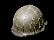 American military helmet. Over black background Stock Image