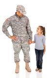 American military man daughter Stock Photo