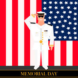 American military officer salutes Royalty Free Stock Image