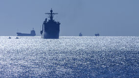 American military ship Royalty Free Stock Image