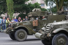 American military vehicle of the Second World War parading for the national day of 14 July ,France Stock Image