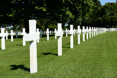 American military war cemetery Stock Photos