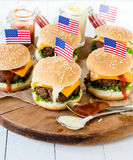 American mini burgers Royalty Free Stock Images