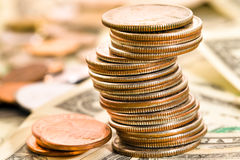 The American money Royalty Free Stock Photo