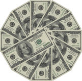 American money. Circle from american dollars, business concept stock illustration