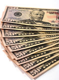 American Money. Close up shot of American Currency - 50 dollars stock photo