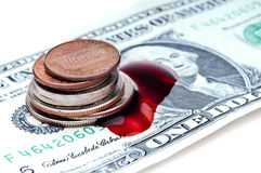 American money bleeding from the recession Stock Images