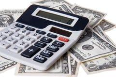 American money with calculator Stock Photos