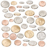 American Money Coins Isolated Royalty Free Stock Image
