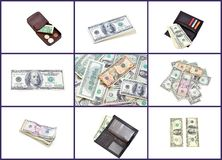 American money collage Royalty Free Stock Photo