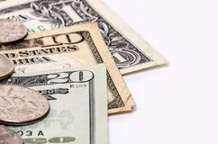 American money dollar bills closeup Stock Photo