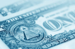 The American money dollars. Bundle of bank notes royalty free stock photography