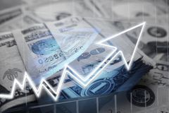 American Money With Economic Growth Symbol High Quality