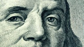 American money hundred dollar bill. United States currency one hundred dollar bill stock video