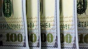 American money hundred dollar bill stock footage
