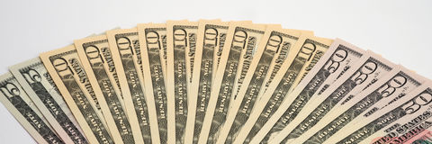 American Money, new Dollar bills Royalty Free Stock Photos