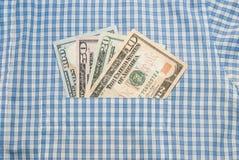 American money in pocket Stock Photo