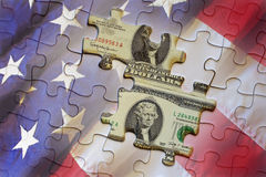 American money puzzle background Royalty Free Stock Image