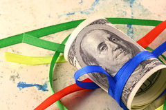 American money and ribbons Stock Image