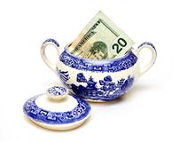 American Money Sugar Bowl Stock Image