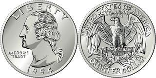 Free American Money Washington Quarter 25 Cent Coin Royalty Free Stock Photography - 181778817