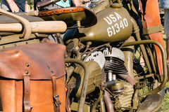 American motorcycle World War II with his arms exhibition Royalty Free Stock Images