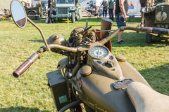 American motorcycle World War II with his arms exhibition Royalty Free Stock Photos
