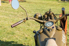 American motorcycle World War II with his arms exhibition Stock Photography