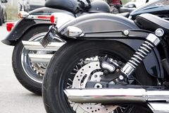 American Motorcycles parked Stock Images