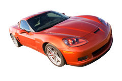 American muscle. New American muscle car isolated with clipping path stock photography