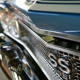 American Muscle car. Front grill Stock Image