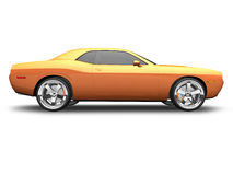 American muscle car. 3D render of a american muscle car over a white background Stock Images
