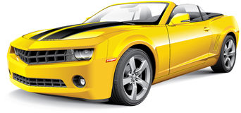 American muscle car convertible royalty free illustration