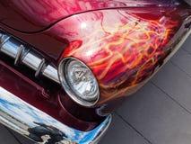 American muscle car with custom paint job stock photos