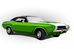 American muscle car green Royalty Free Stock Images