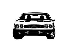 American muscle car legend silhouette Stock Photos