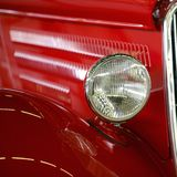 American Muscle car red. Hotrod Royalty Free Stock Images