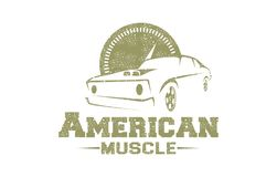 American Muscle Logo royalty free illustration