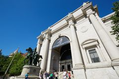 American Museum of Natural History building with people in New York Stock Image