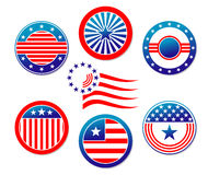 American national banners Royalty Free Stock Photos