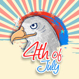 American national bird eagle for Independence Day celebration. Royalty Free Stock Images