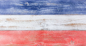 American national colors painted on fading wooden boards Stock Photos