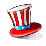 American national colors top-hat. Royalty Free Stock Photo