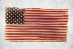 American national flag on wall. Grunge American national flag on wall background Stock Images