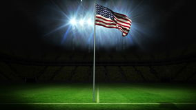 American national flag waving on flagpole