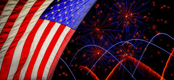 American national flag waving for Fourth of July Independence Da Royalty Free Stock Images