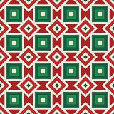 American native background. African style ornament. Ethnic and tribal motif. Seamless pattern in Christmas colors. Seamless pattern in Christmas traditional stock illustration